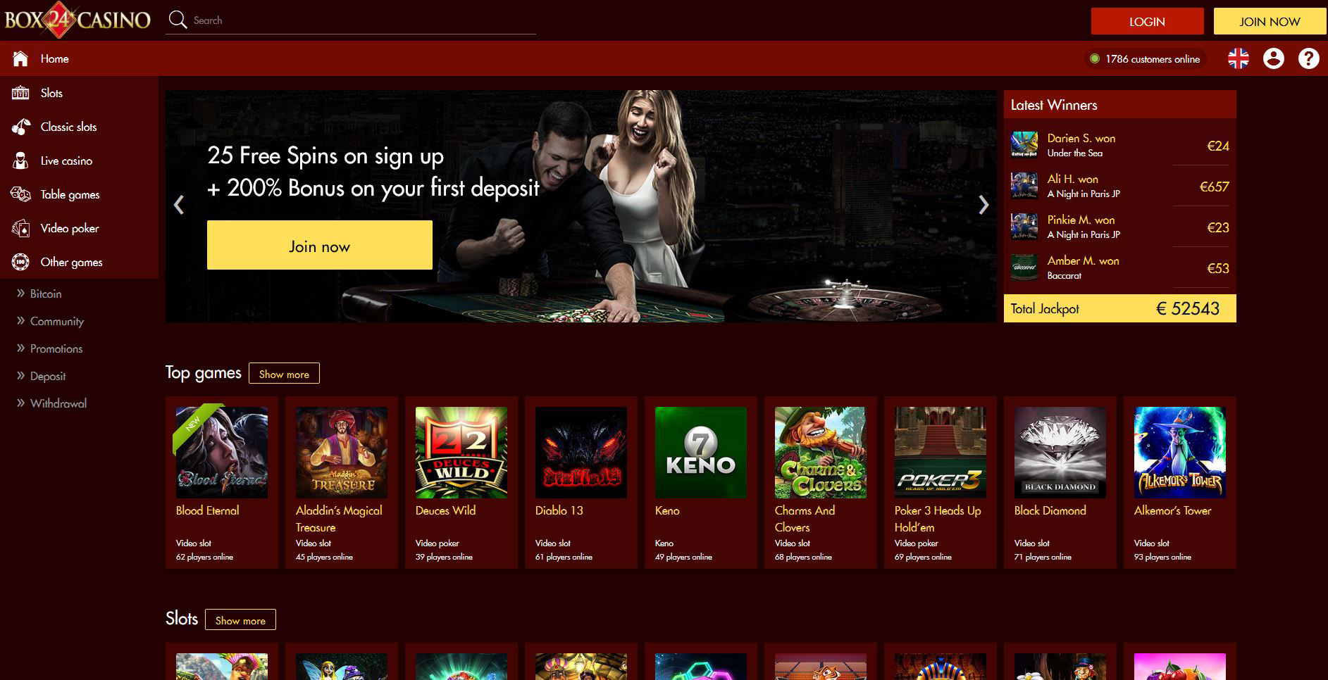 Box 24 Casino Play Free Slots