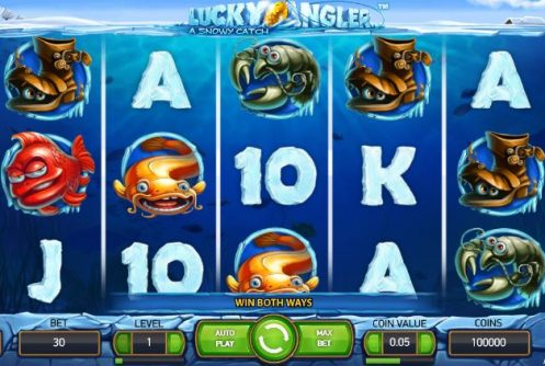 Lucky Angler: A Snowy Catch Slot